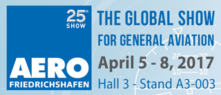 ASF Engineering GmbH will exhibit on the AERO 2017 Friedrichshafen - The Global Show for General Aviation, Halle A3, Stand A3-003
